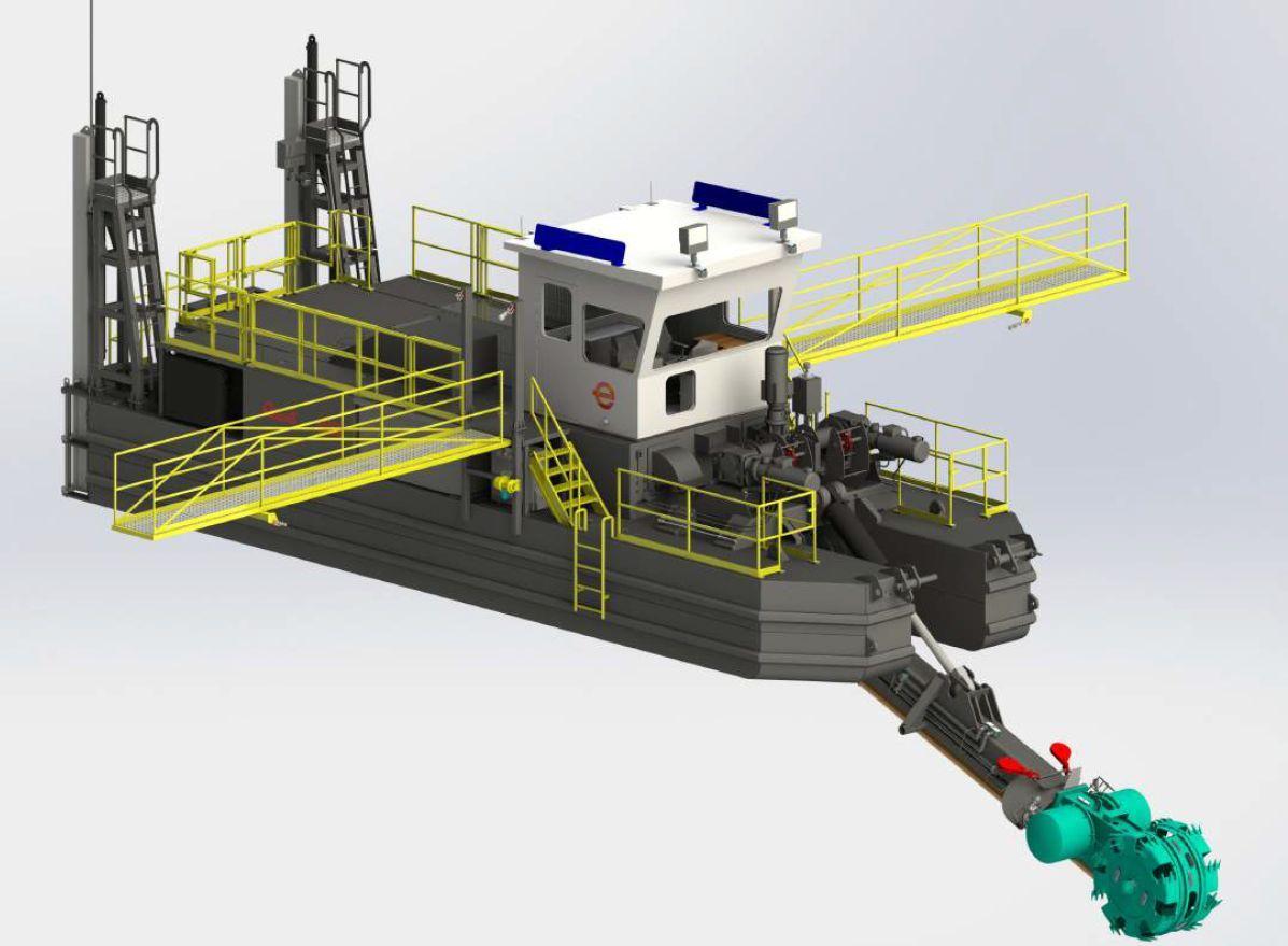 3D image of Custom B590E Wheel Dragon™ Dredge